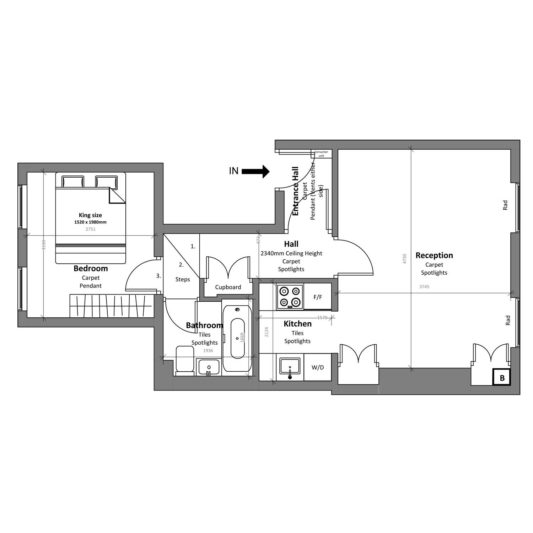 Freehold block investment (floor plan/before) - London Central Portfolio Limited