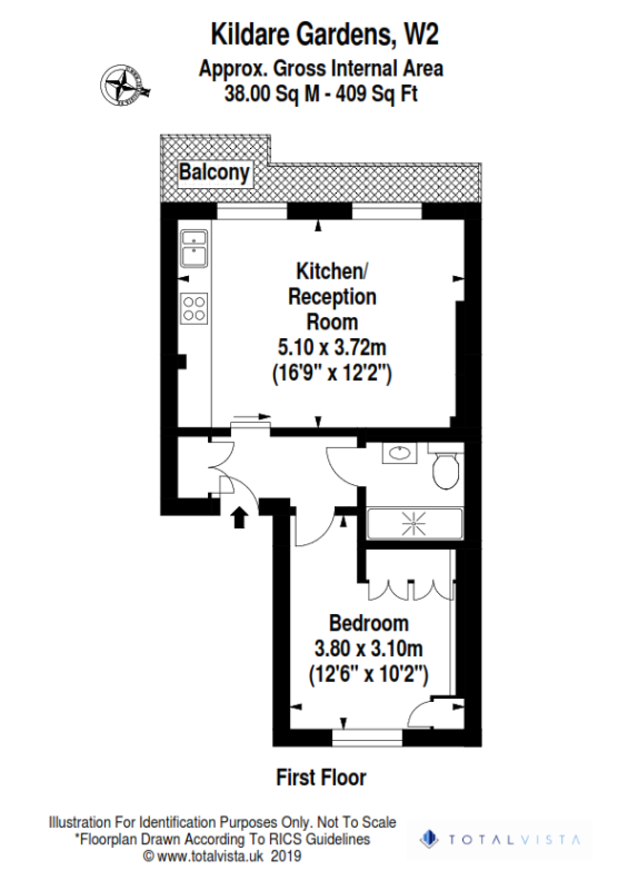 Rental investment flat - One Bedroom (floor plan) - London Central Portfolio Limited