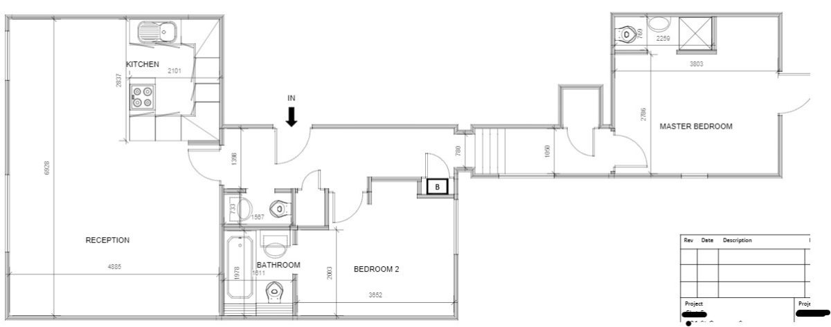 Refurbishing a pied-a-terre (floor plan/before) - London Central Portfolio Limited