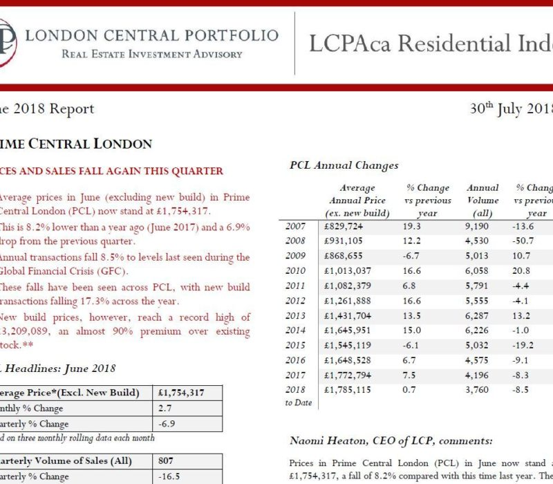LCPAca Residential Index (June 2018) - London Central Portfolio Limited