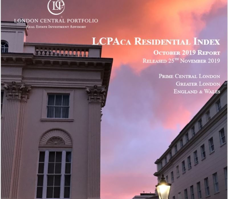 LCPAca Residential Index (October 2019) - London Central Portfolio Limited