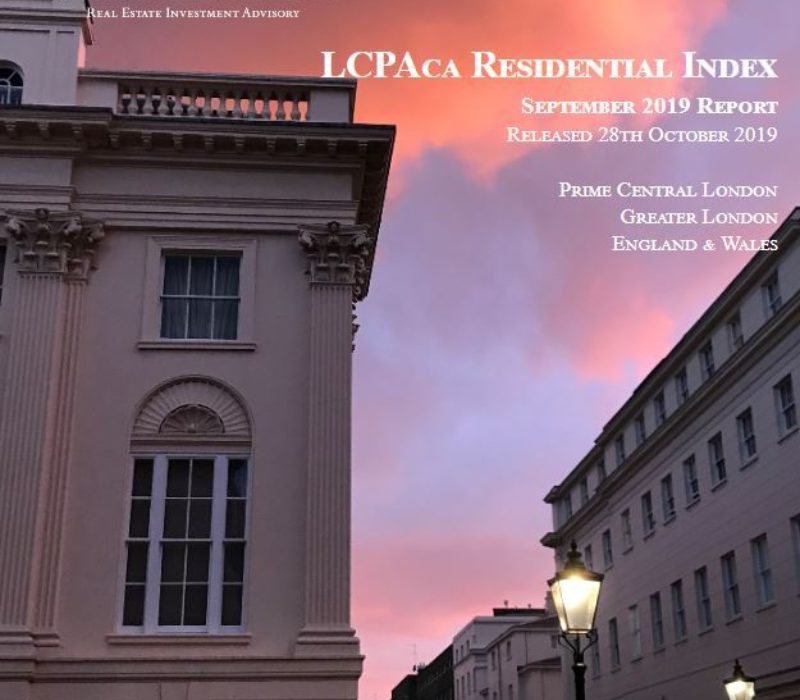 LCPAca Residential Index (September 2019) - London Central Portfolio Limited