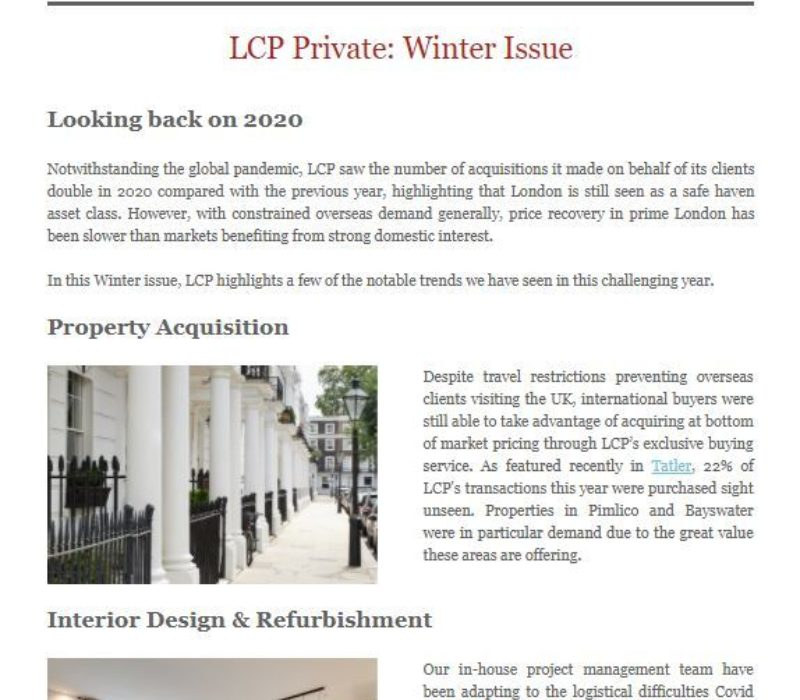 LCP Private December 2020 - London Central Portfolio Limited