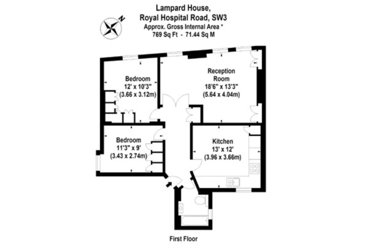2 bed flat to let, Royal Hospital Road - London Central Portfolio Limited