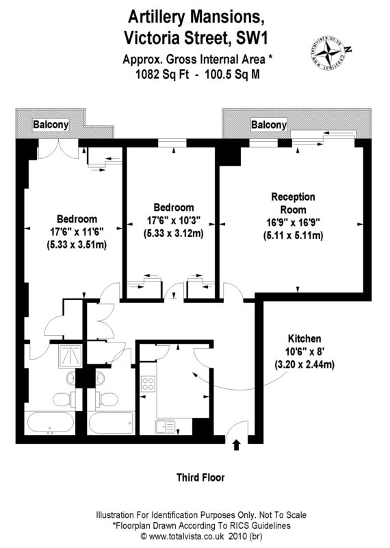 2 bed flat to let, Artillery Mansions, Victoria Street - London Central Portfolio Limited